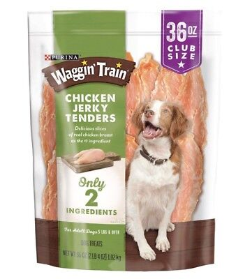 Purina Waggin Train Chicken Jerky Dog Treats 36 oz Bag