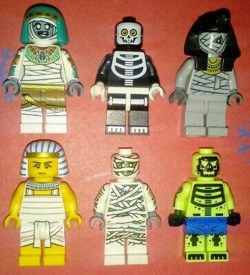 Lego Mummy Skeleton Egyptian Halloween Mix Lot of 6 Minifigures