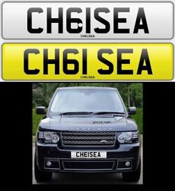 CHELSEA private cherished number plate personalised car reg - CH61SEA