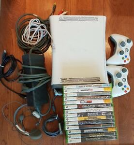 XBOX 360 w/ 2 Controllers and 15 Games