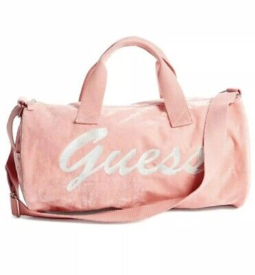 Guess Women Velvet Duffle Bag Blush