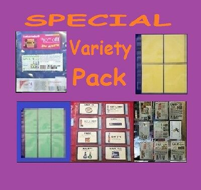 20 COUPON SLEEVES ORGANIZER HOLDER PAGES BINDER SET!! GREAT DEAL! Best deal ever