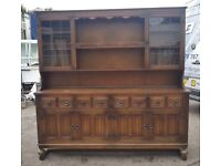 Classic Brown Wooden Dining Room Dresser