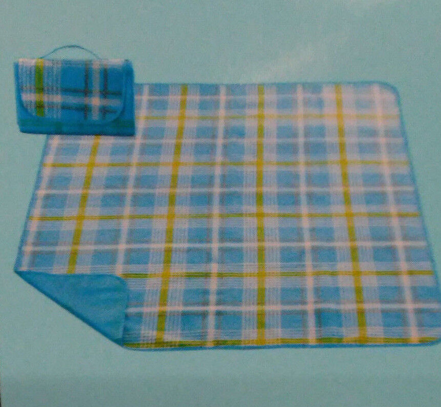 Light Blue Picnic Or Stadium Blanket 50'' x 60'' - Water Res