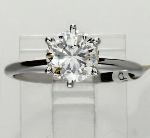 Diamond Engagement Ring Solitaire 14k White Gold Round Brilliant 1.78ct New Sz 7