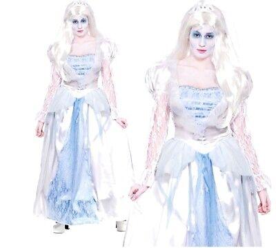Ladies GORGEOUS GHOST BRIDE Halloween Adult Fancy Dress Costume UK Sizes 6-28](Size 28 Ladies Halloween Costumes)