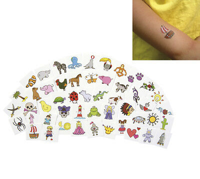 TATTOOSET 96 Kindertattoos Kinder-Tattoo Abziehbildchen KiGa Tattoo-Set Tattoos