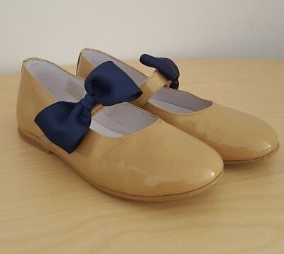 *Ex. cond* Girls Spanish Party Shoes Tan Genuine Patent Leather EUR 30 / UK 12 Tan Patent Schuhe