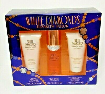 WHITE DIAMONDS (L) SET 1 OZ EDT SP  1.7 BODY LOTION 1.7 BODY WASH BOX