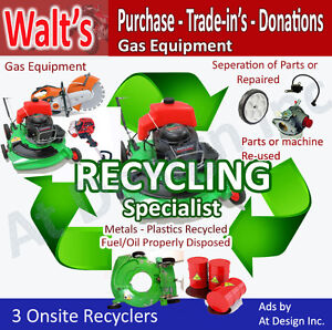 WANTED- Lawnmower Gas Equipement - Lawn mower BUY & RECYCLE