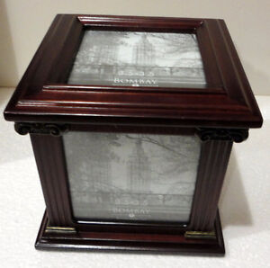 Bombay wooden/glass cube photobox decorative accent London Ontario image 10
