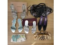Assortment of 4 Pairs of Shoes & 3 Handbags at a Bundle Price