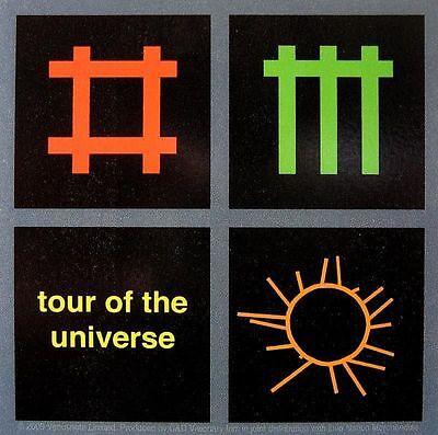 "DEPECHE MODE AUFKLEBER / STICKER # 7 ""TOUR OF THE UNIVERSE"" - PVC WETTERFEST"