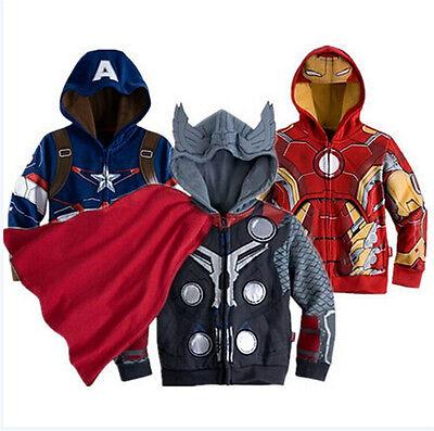 Kinder Jungen Superheld Kapuzenpullover Kapuzenjacke Warme Jacke Sweater Mäntel