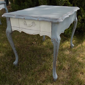 French Provincial table Painted