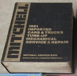 Mitchell 1981 Imported Cars Trucks Tune-Up Mechanical Book Cambridge Kitchener Area image 2