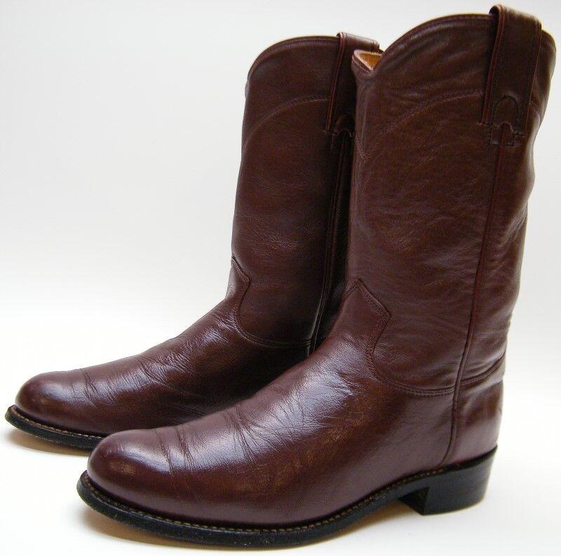 womens j chisholm burgundy leather roper cowboy western