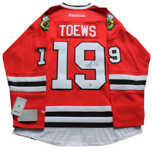 Jonathan Toews signed autograph Chicago Blackhawks jersey