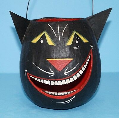 HALLOWEEN BLACK CAT LANTERN BASKET