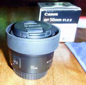 Canon EF 50mm f/1.8 II Camera Lens (Nifty-Fifty)  a must to Have