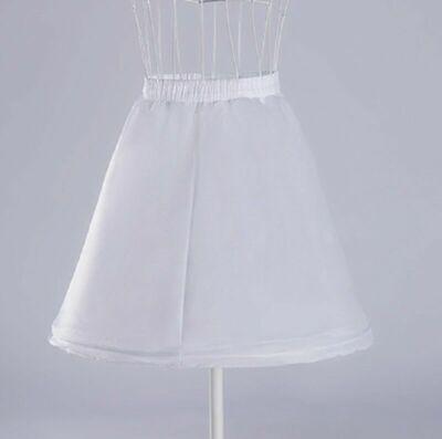 Puffy Skirts For Kids (New Girl's White Crinoline Slip Petticoat Puffy Underskirt For Wedding Dress )