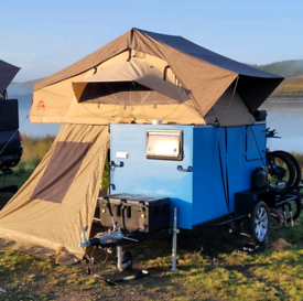 Canvas roof top tent