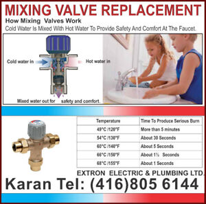 Mixing Valve Replacement Licensed and Insured