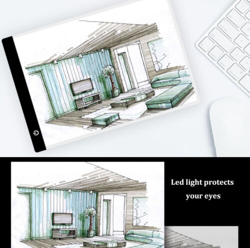 LED Back Light Self-luminous Drawing Board Pad for Sketch Tr