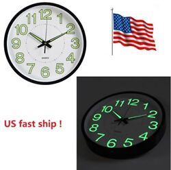 12'' Luminous Wall Clock Creative Quartz Wall Clock Home Decoration Living Room