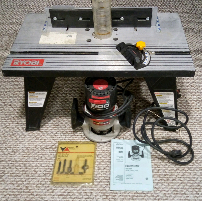 Craftsman router and bits ryobi router table power tools description greentooth Images