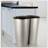 Kitchen Double Bin Recycling Waste Can Garbage Rubbish Dustbin Indoor Outdoor UK