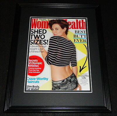 Evangeline Lilly Framed 11x14 ORIGINAL 2014 Woman's Health Magazine Cover
