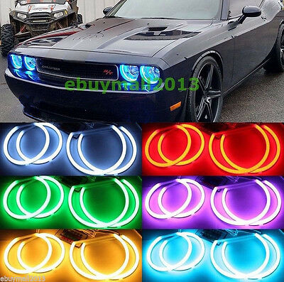 RF Cotton RGB Halo Ring For Dodge Challenger 2008-2014 Demon Angel Eyes Lamp DRL