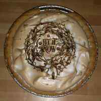 Home made Custom engraved pies & pastries
