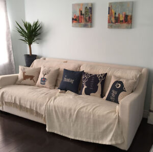 luxury 99% new Canada made Couch,   moving sale, Urgently!!!