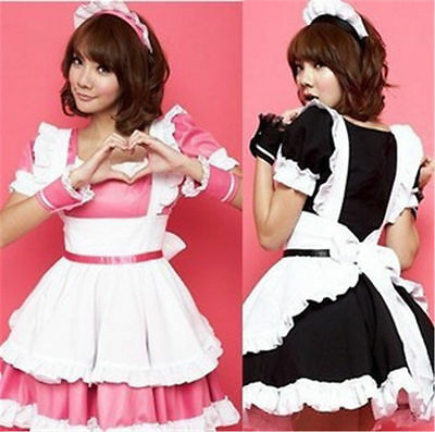 High School Girl anime party cosplay Maid costume complete dress uniform](Anime Girl Costume)