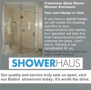 Frameless Glass shower enclosure-custom steam shower enclosures