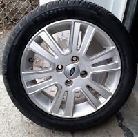 4 mags ford Fiesta, Focus summer tires / summer tires 205-50-16,