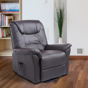 HOMCOM Leathered Electric Lift Chair Power Recliner Remote New