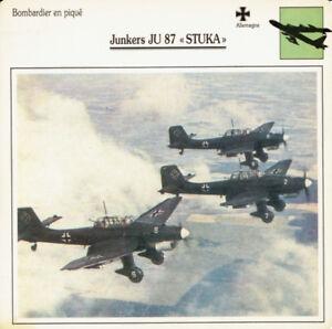 """Carte - Fiche  JUNKERS  JU  87  """"STUKA"""""""