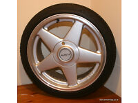 "BMW E30 4x100 Azev A 17"" Alloys & Tyres 325i Sport 318is Corsa Clio VW Golf Polo Ibiza MX5 Rover 25"