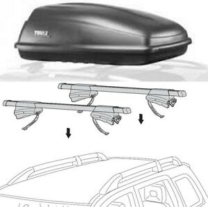 Combo Thule Excursion boite toit Crossroad 450 rack support toit