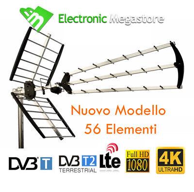 ANTENNA TV DIGITALE TERRESTRE 56 ELEMENTI UHF DVB-T HD ALTO GUADAGNO LTE 21-60