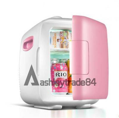 vehicle-mounted Dorm Room Office Kitchen Mini Refrigerator Fridge 8L pink