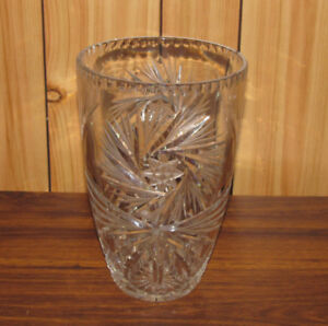 Vase en verre taillé Pinwheel