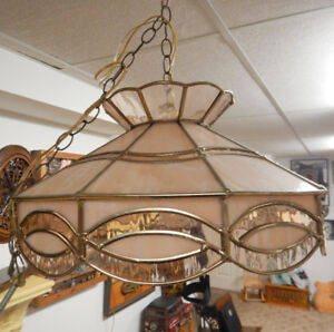 Tiffany Style Octaganal Tortis Shell Ceiling Light