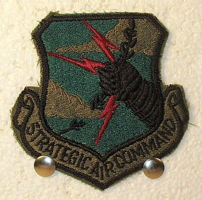 USAF US Air Force Strategic Air Command SAC Crest Badge Patch Subdued (Air Force Command Badge)