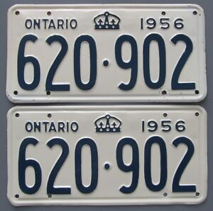 Vintage YOM License Plates - Ministry Approval Guaranteed!