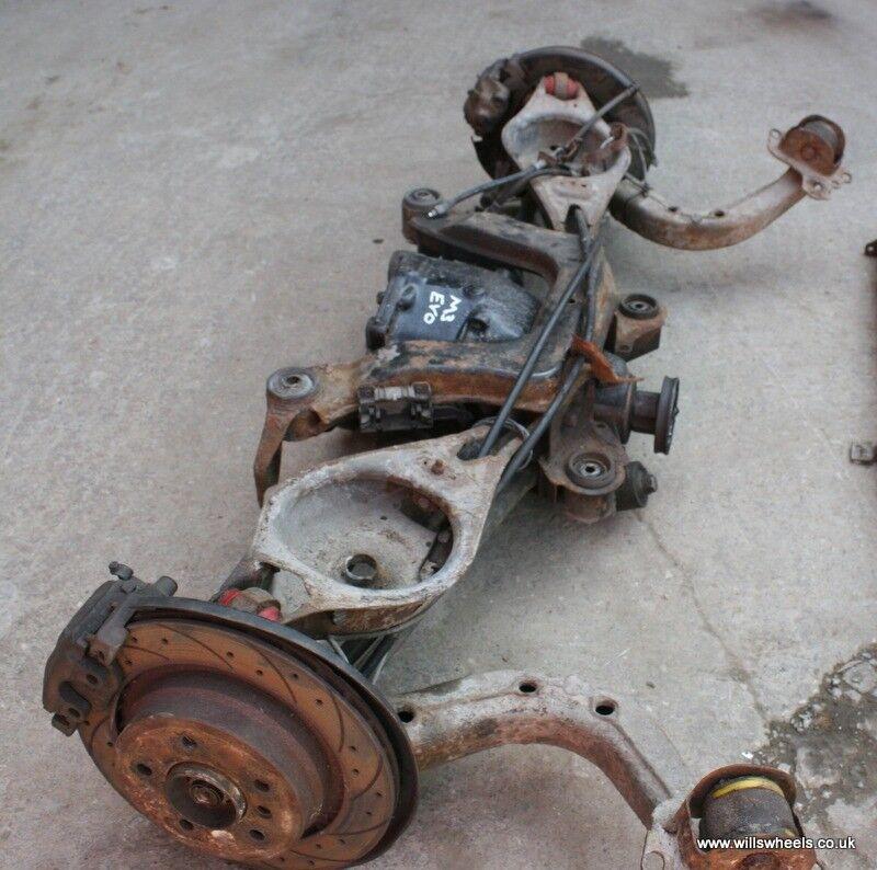 Bmw M3 Wheels: BMW E36 M3 Evo Complete Rear Axle Assy LSD Brakes Subframe