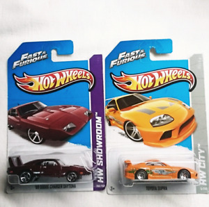 HOT WHEELS FAST & FURIOUS 69 DODGE CHARGER TOYOTA SUPRA DIECAST